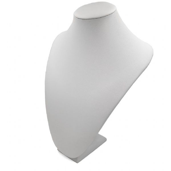 White Leatherette Bust Display Stand